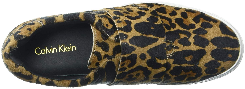 Leopard 0 Calvin Fashion Klein velcro 8 6iv in taglia Jaiden Low Top Womens w8wqfPS