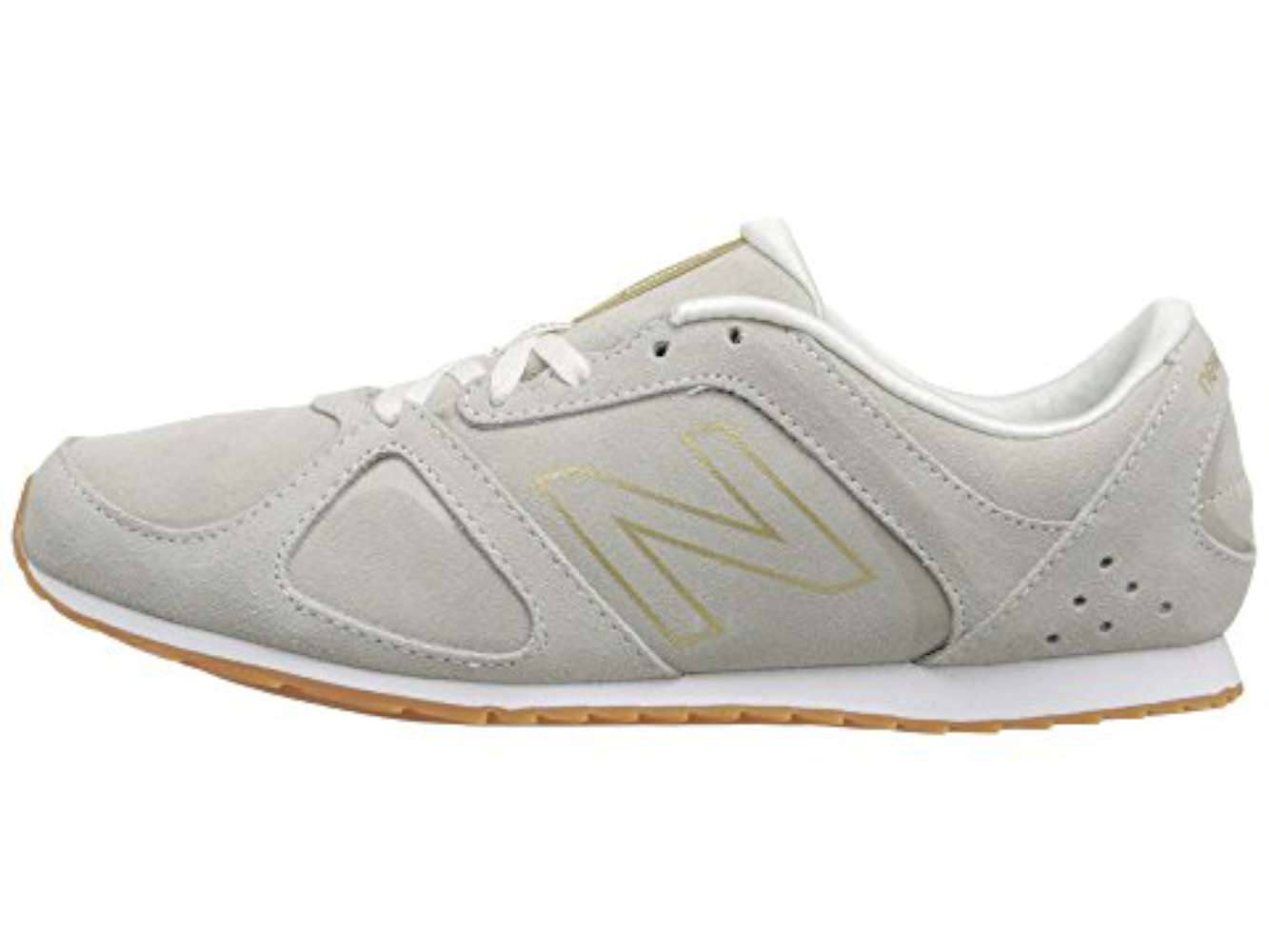 New Balance Womens WL5555WG Lifestyle Fabric Low Top Grey Gold Combo Size  7.5 - mainstreetblytheville.org 30e33657a22