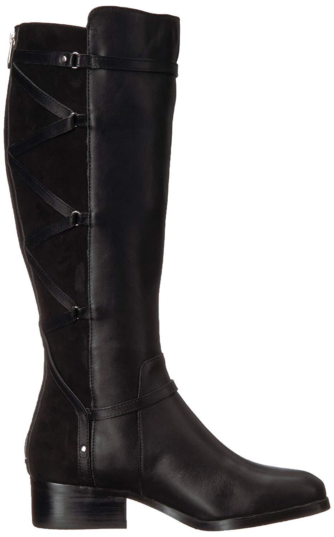 Size 11.0 Black ADRIENNE VITTADINI Womens Mickey Closed Toe Knee High Fashion