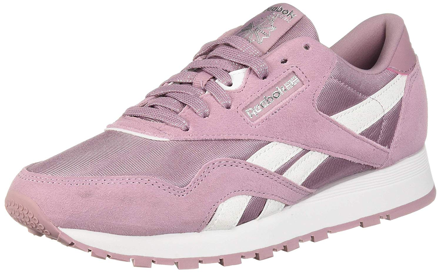 d6a8581f Details about Kids Reebok Boys Classic Nylon, Infused Lilac/White/Silver,  Size Big Kid 3.5