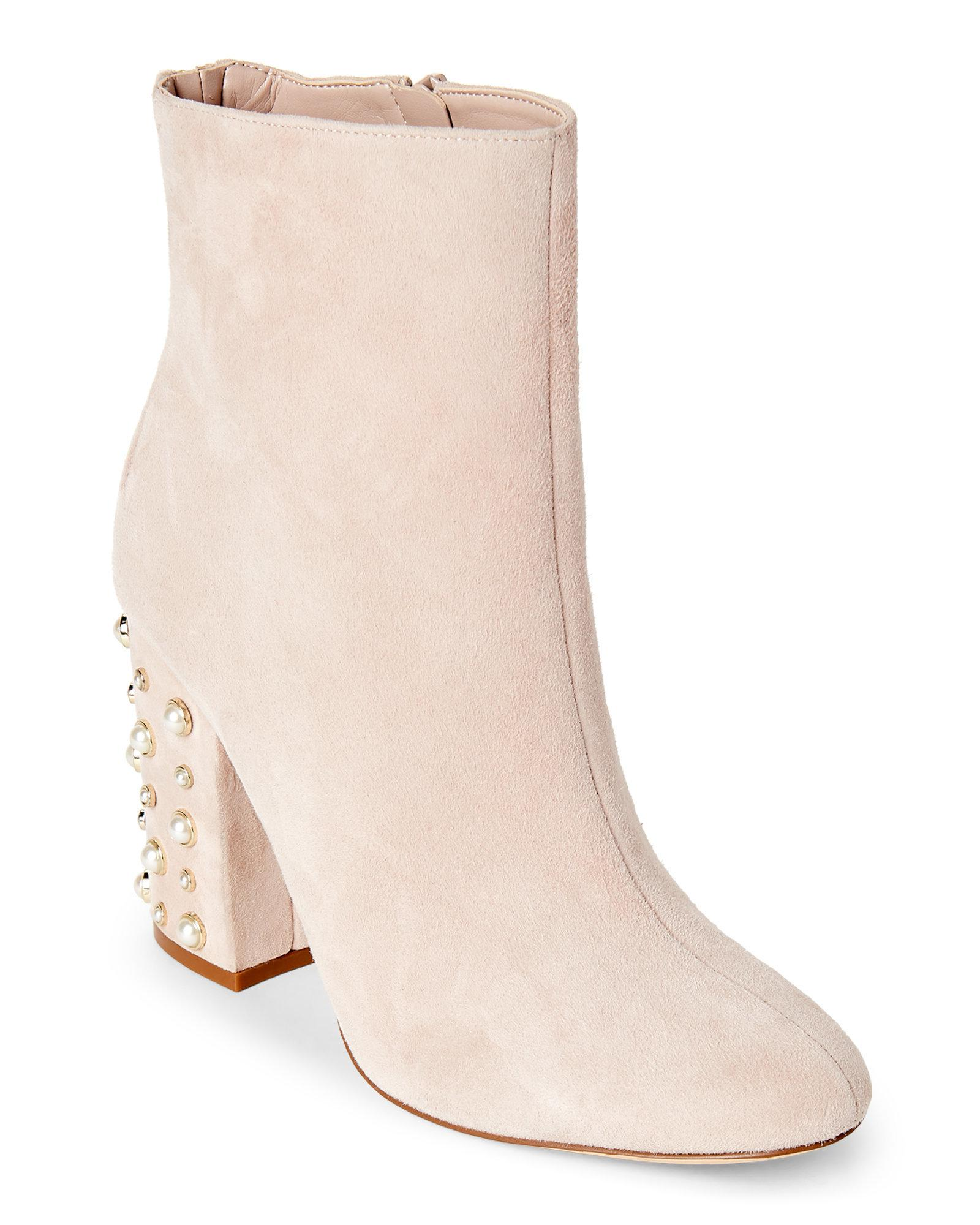 Ivanka Trump Womens Telora Leather Almond Toe Ankle Fashion, Taupe, Size 8.0 rb1
