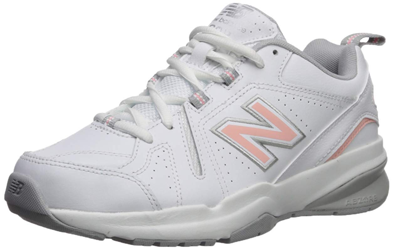 Details about New Balance Women's 608v5 Casual Comfort Cross Trainer, WhitePink, Size 5.5 DO8