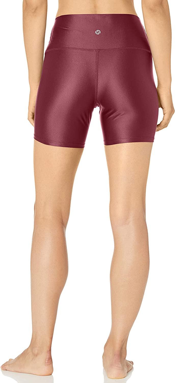 "thumbnail 4 - Brand - Core 10 Women's Icon Series Liquid Shine High Waist Yoga Short – 5"""