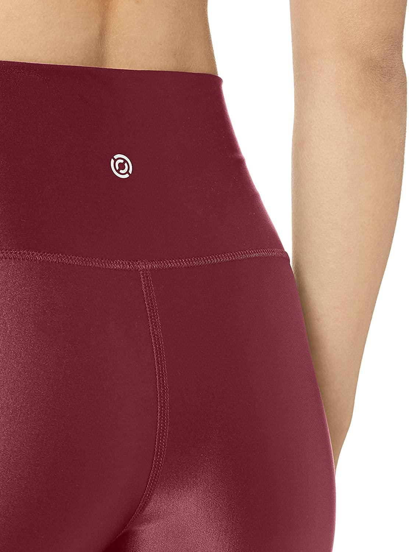 "thumbnail 5 - Brand - Core 10 Women's Icon Series Liquid Shine High Waist Yoga Short – 5"""