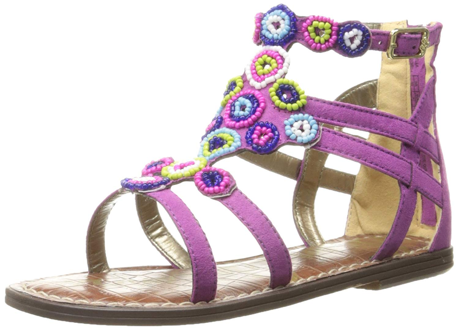 74a72be3951d4b Details about Sam Edelman Kids Bella Beads Gladiator Sandal