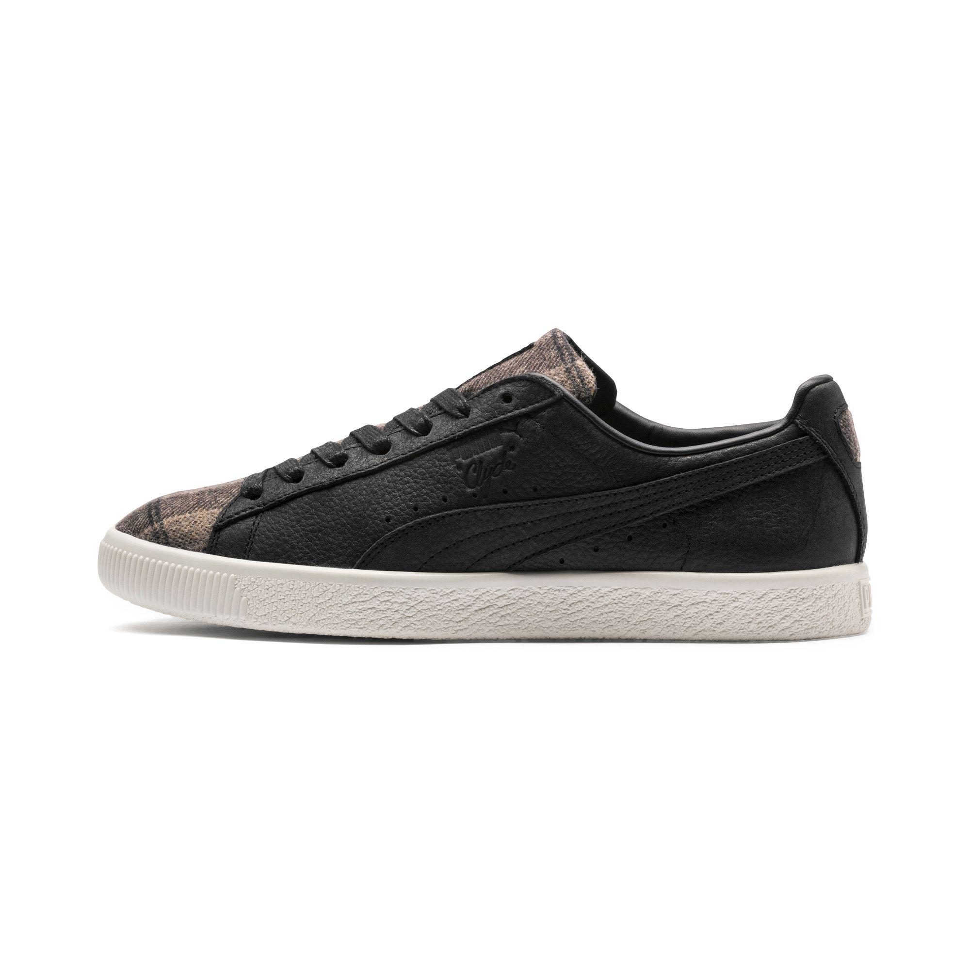 Puma Womens Clyde Plaid Suede Low Top Lace Up Fashion Sneakers ... 4ecc0cbb2