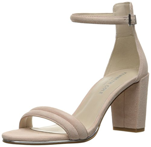 Kenneth Cole New York Womens Lex Leather Open Toe Ankle Rose/Suede Size 5.5