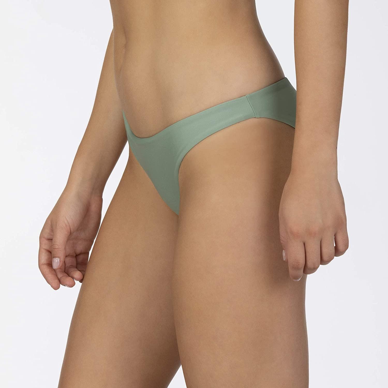 Hurley Women's Quick Dry Commpression Full Bikini, Silver ...