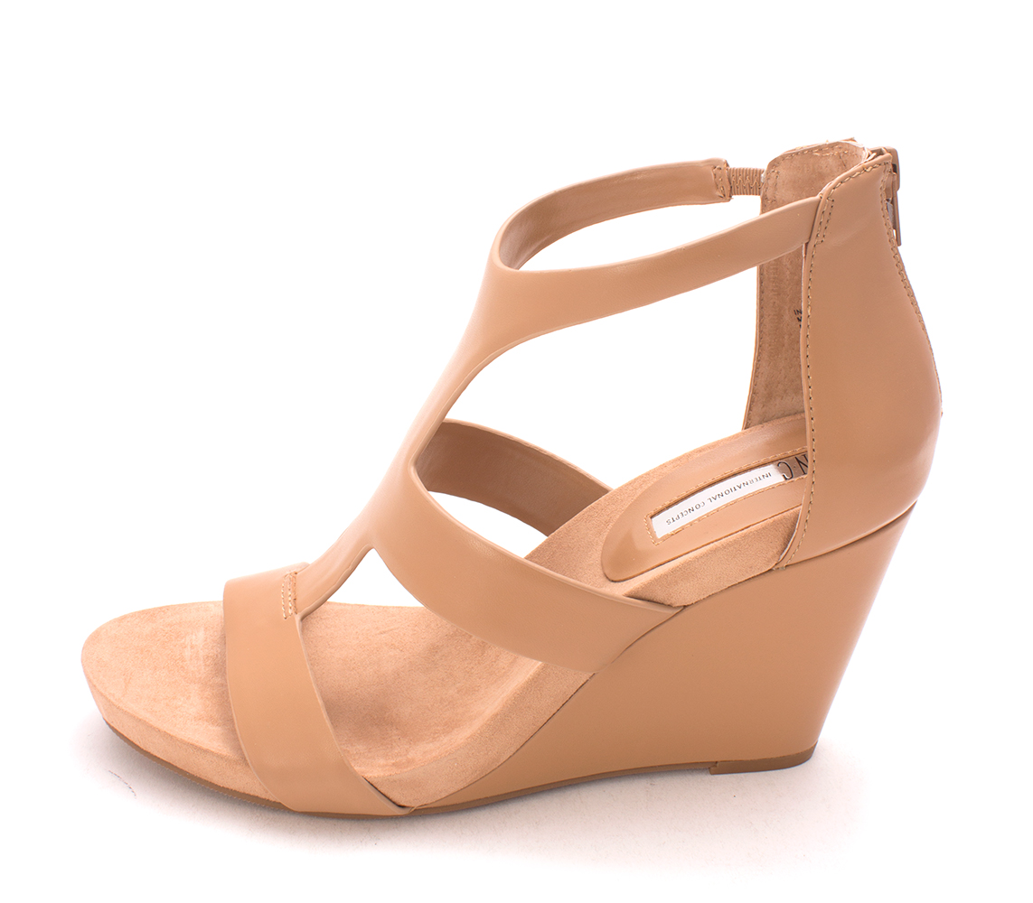INC International Concepts Womens LILBETH Open Toe Casual Tan Size 100