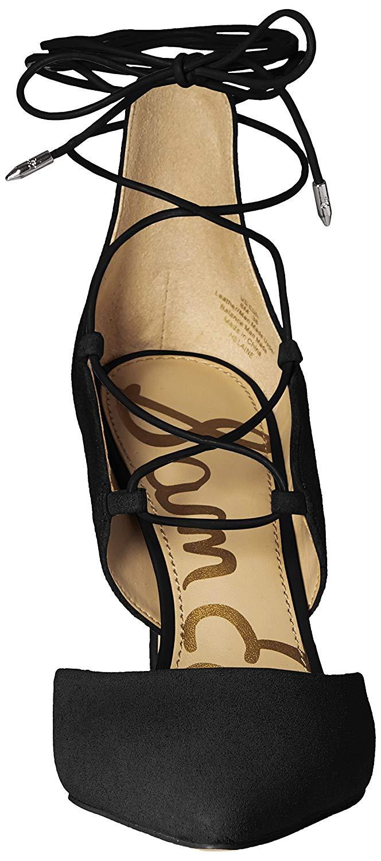 ec7ada096 Sam Edelman Womens helaine Pointed Toe Ankle Wrap Classic Pumps ...