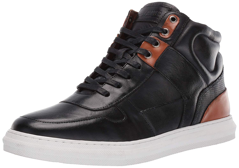 17b4b9cb32f Details about Steve Madden Men's Sharper Sneaker, Black Leather, Size 11.5  tTzR