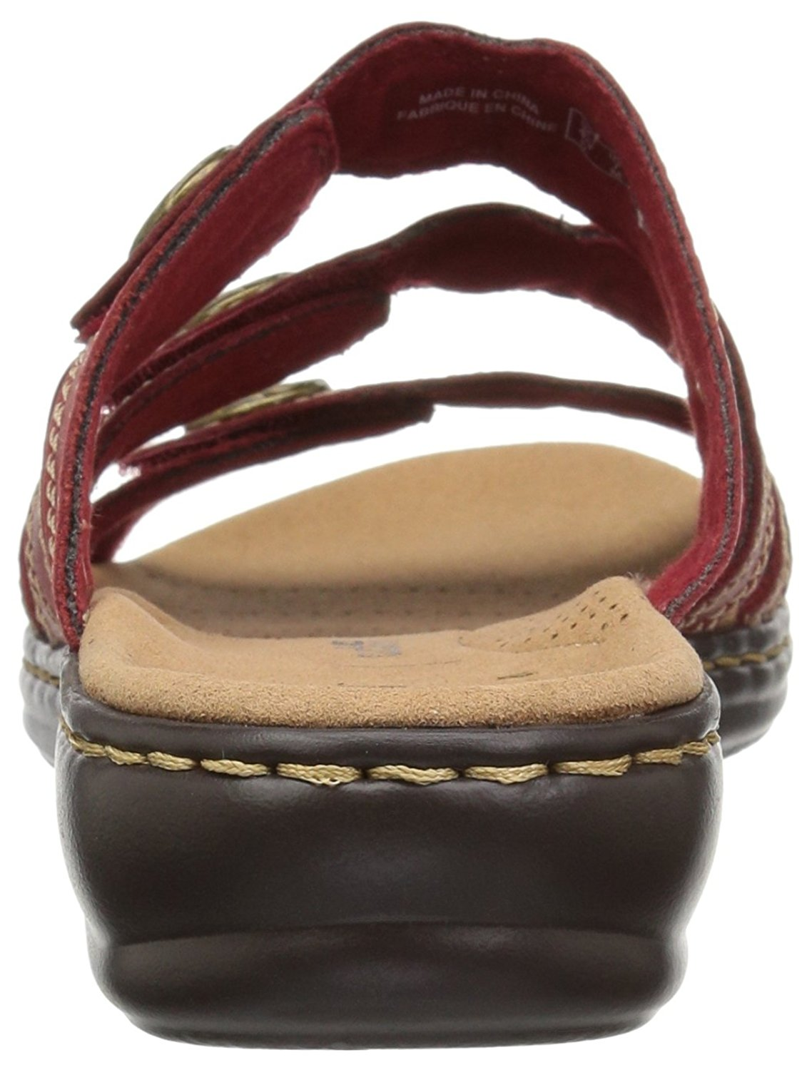 e34e3f7fa66 CLARKS Womens Leisa Grace Leather Open Toe Casual Slide