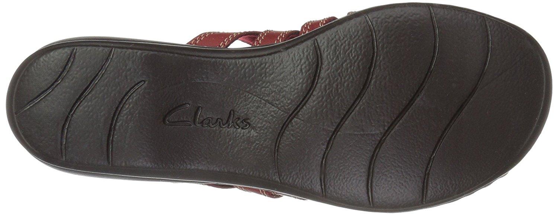 3485084b7c66 CLARKS Womens Leisa Grace Leather Open Toe Casual Slide