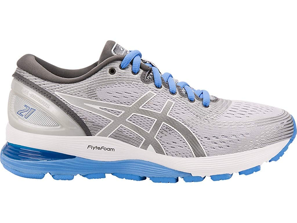 Asics Womens nimbus Fabric Low Top Lace Up Walking Shoes, Gr