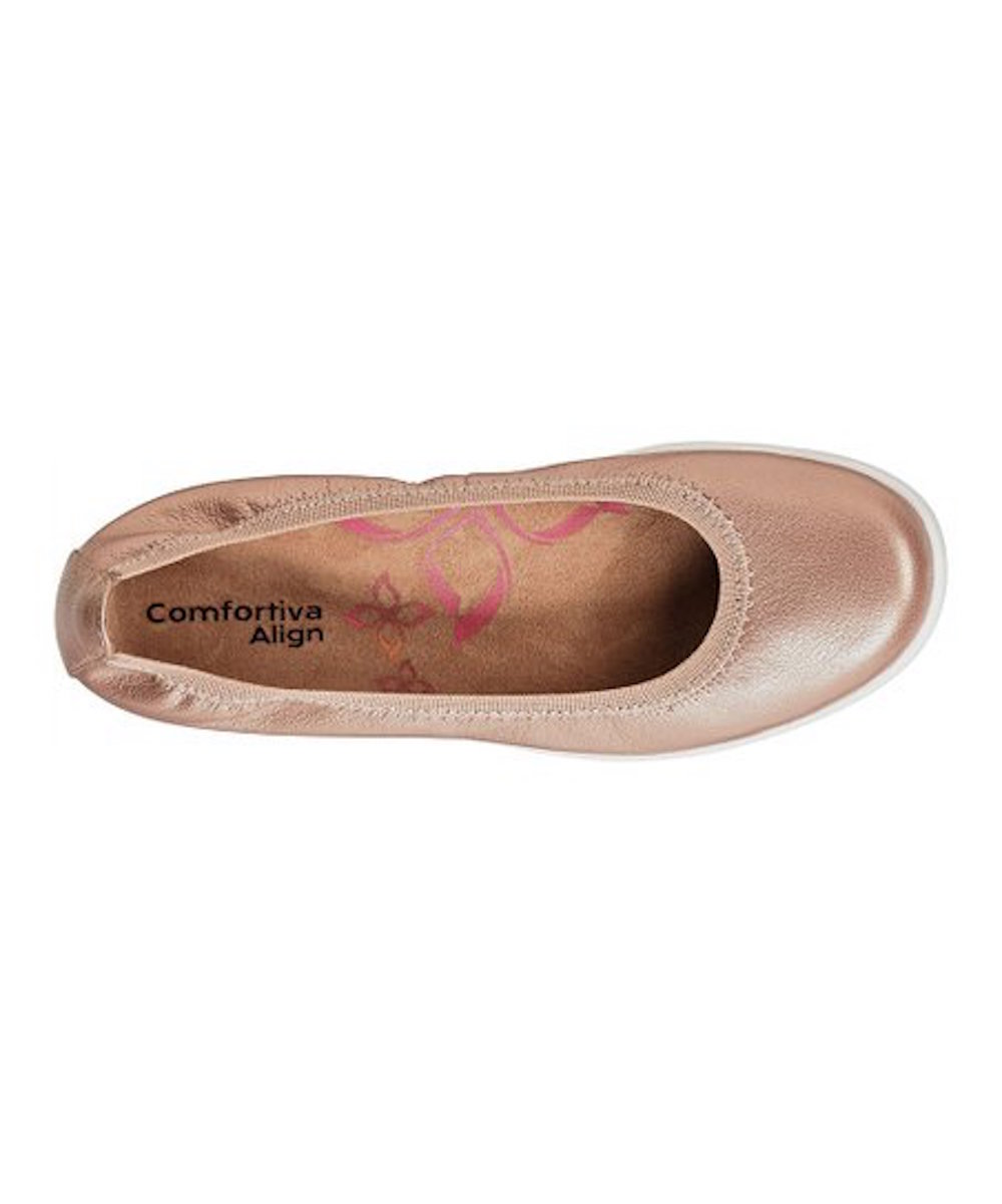 Comfortiva-Womens-Grace-Leather-Closed-Toe-Ballet-Flats thumbnail 11