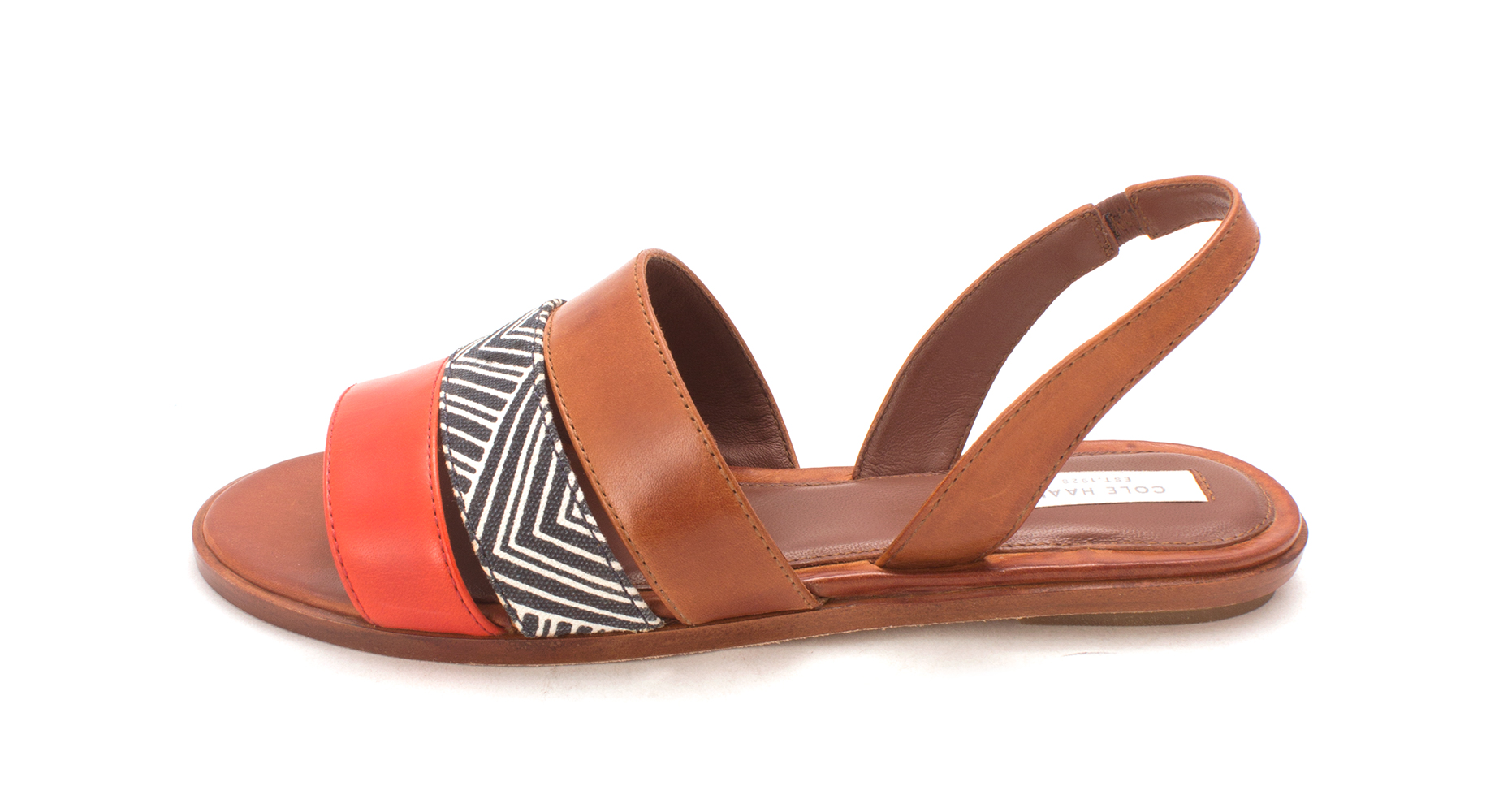 Cole Haan Womens Kimberlysam Canvas Open Toe Casual MultiColor Size 60
