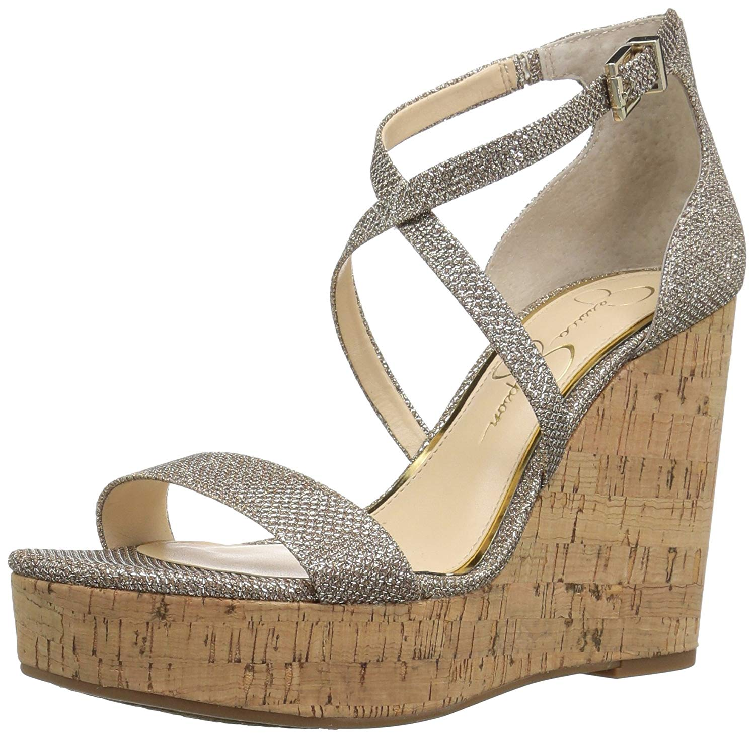 0fd4c933293 Jessica Simpson Womens Stassi Open Toe Special Occasion Ankle Strap Sandals