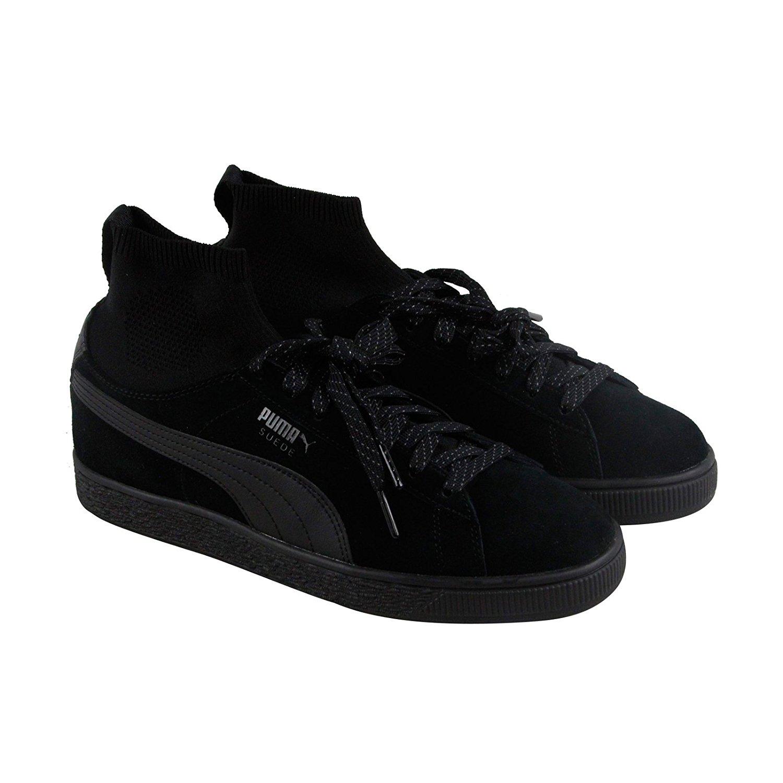 black puma shoes suede