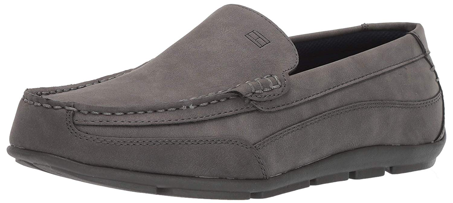 Tommy Hilfiger Mens Dathan Closed Toe Penny Loafer, Grey ...