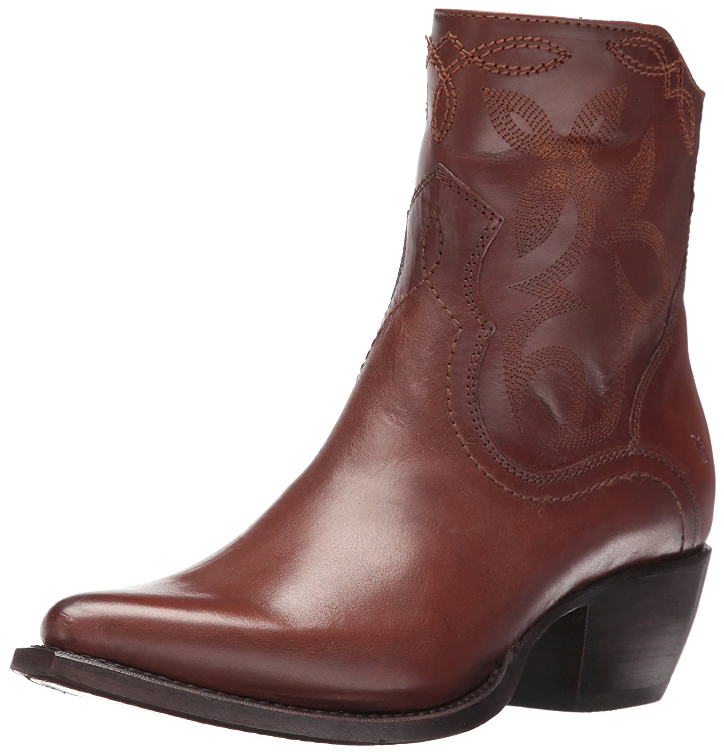 FRYE Womens Shane Leather Pointed Toe Mid-Calf Cowboy Boots Whiskey Size 7.0 Z