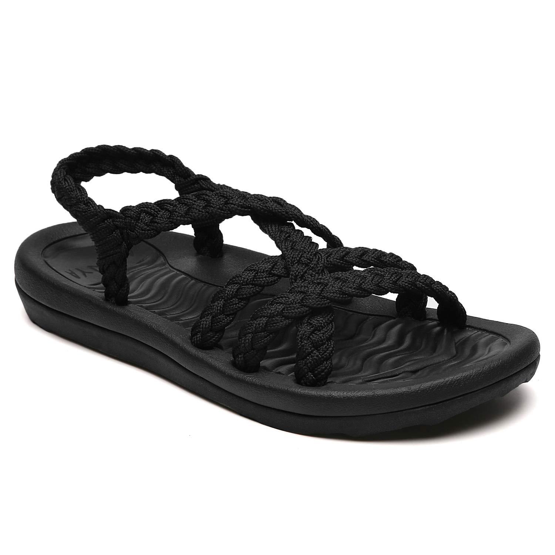 NEW 2 Strap Adjustable Buckle Flat Casual Sandals Slide