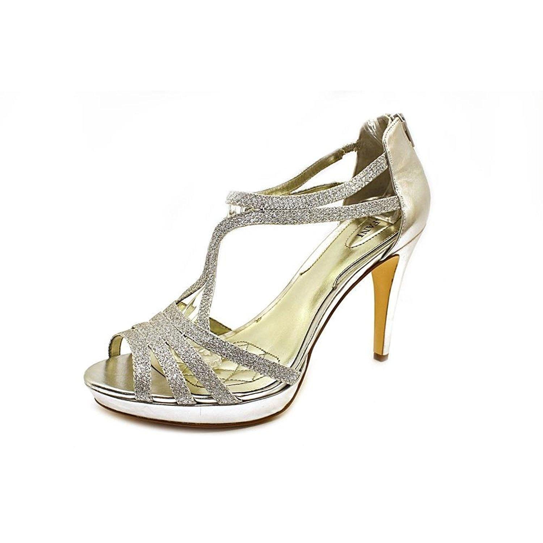 Alfani Womens TACY Peep Toe Platform Pumps Silver Size 8.0 JZMn