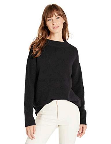 Brand Black Lark /& Ro Women/'s Long Sleeve Ribbed Crewneck Size Large