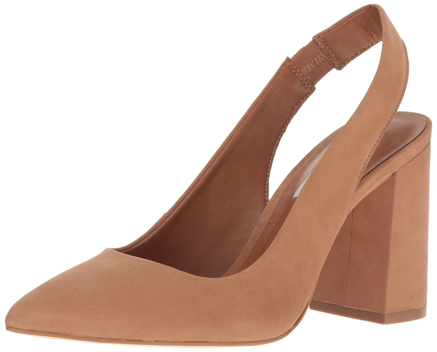 Image is loading Steve-Madden-Womens-Dove-Leather-Pointed-Toe-SlingBack-