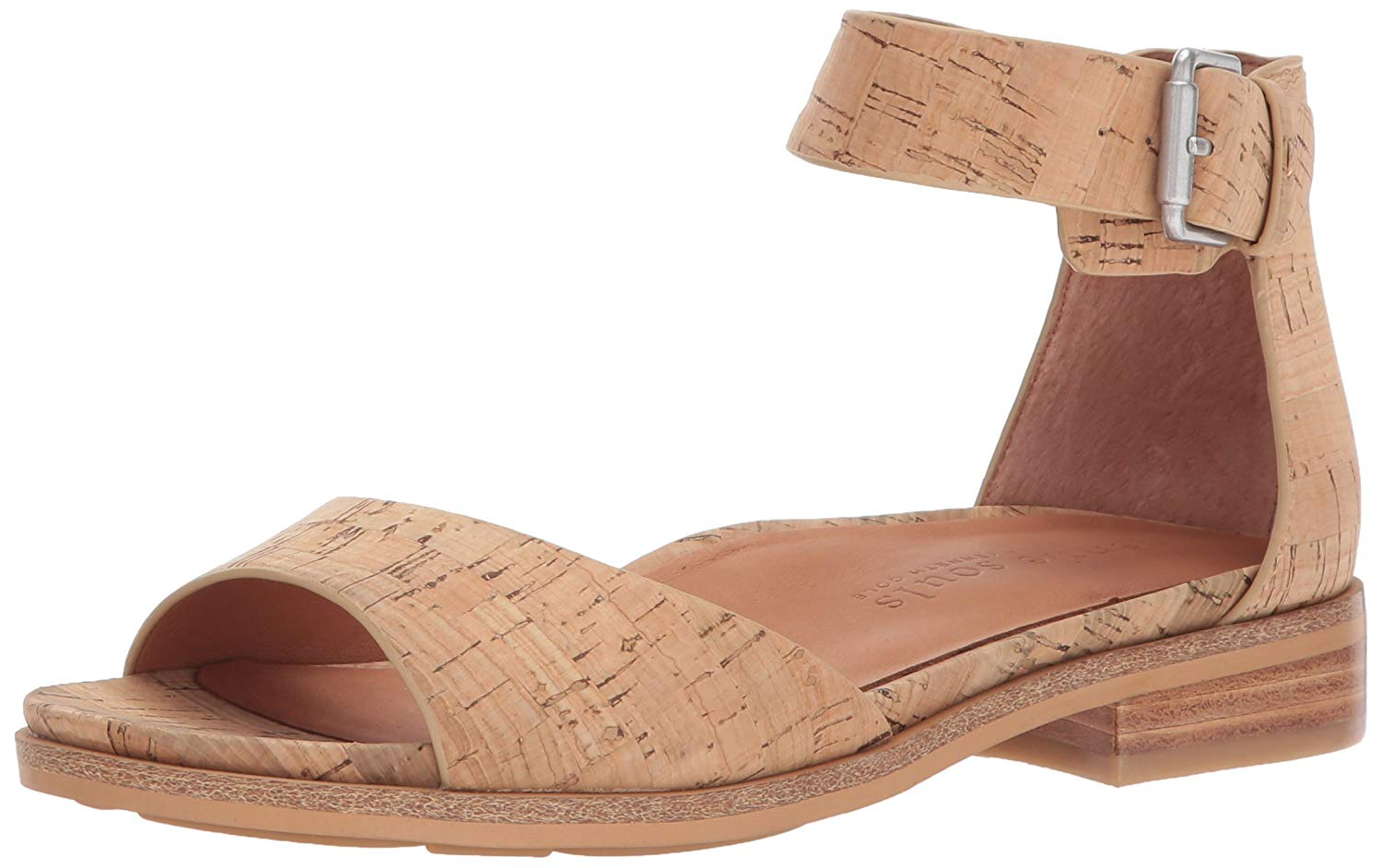 c9c53e25489 Details about Gentle Souls Women s Gracey Flat Sandal with Ankle Strap