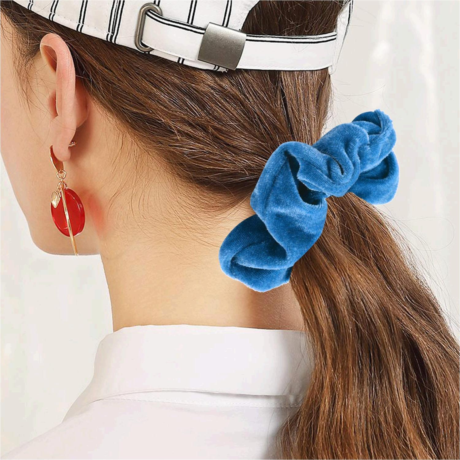 50 pcs premium velvet hair scrunchies 50 color premium