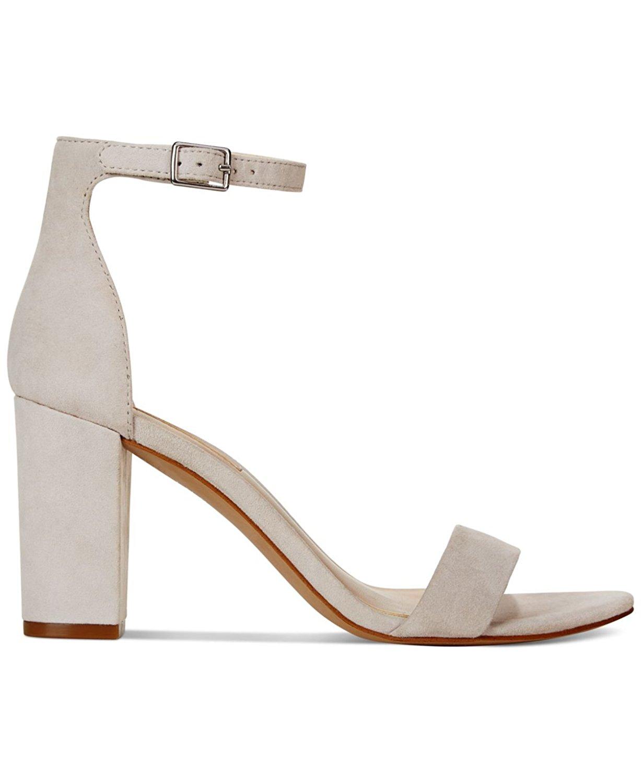 INC International Concepts Womens Kivah Leather Open Toe Grey Mist Size 9.0