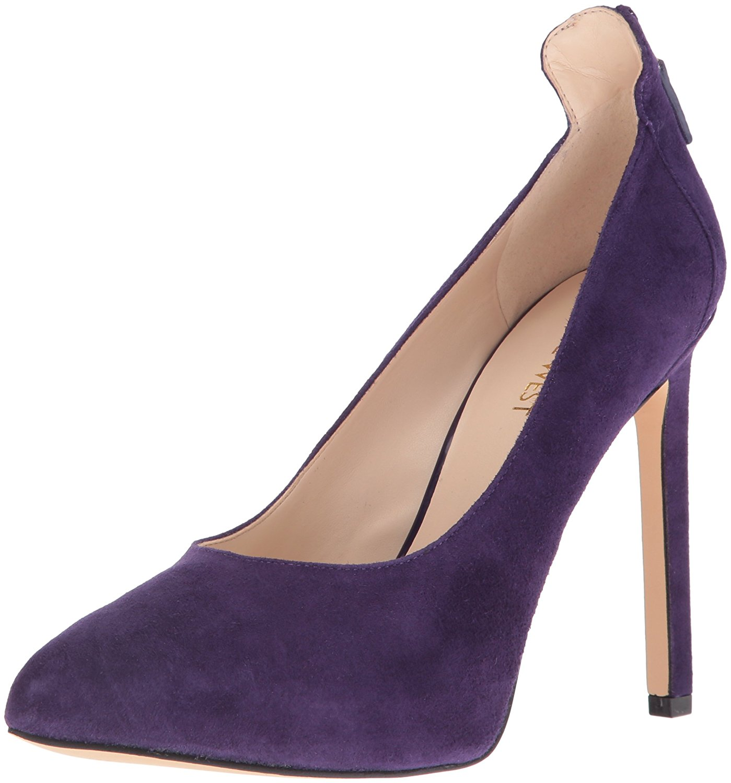 Nine West Women's Lovelost Suede Dress Pump Dark Purple Size 6.0