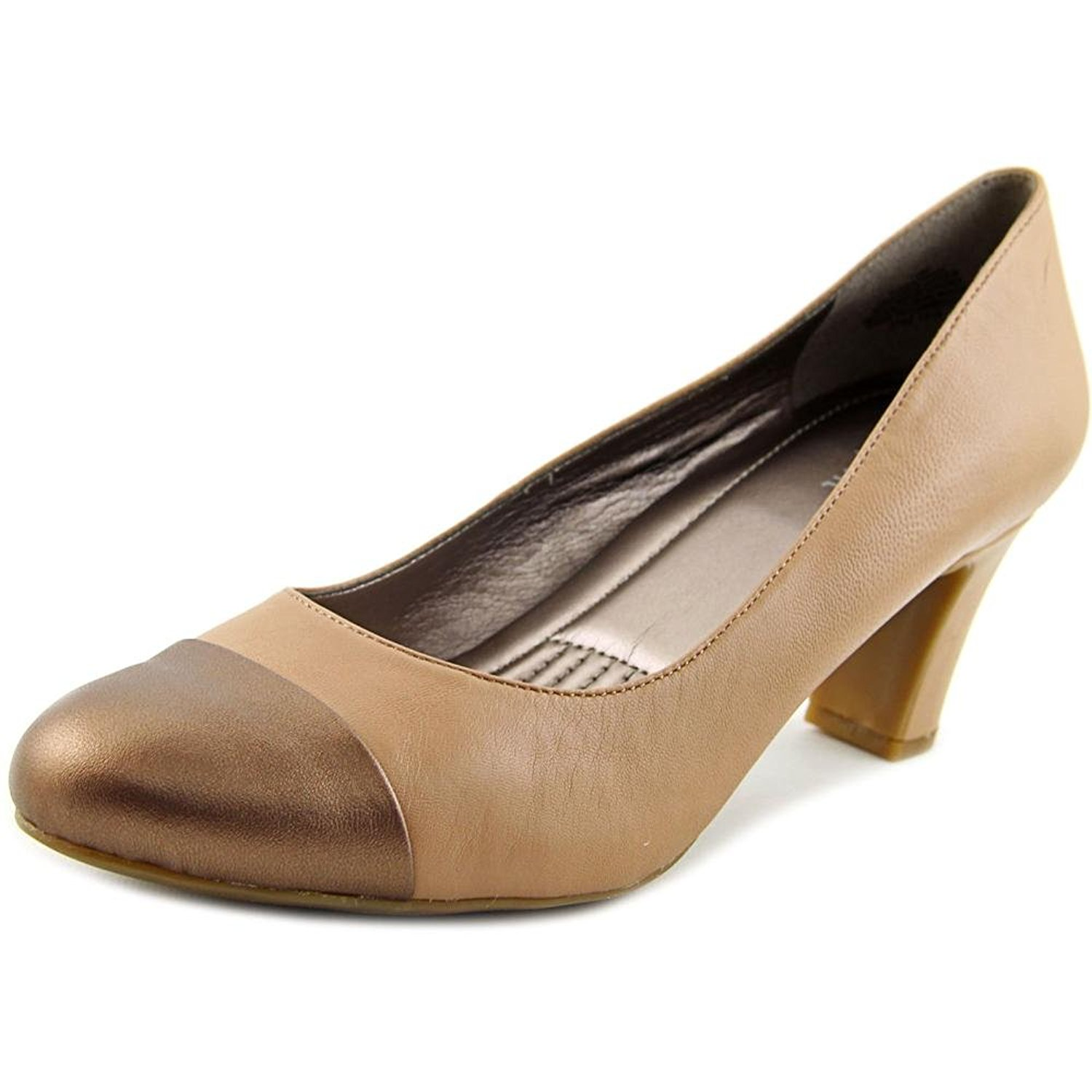 Easy Spirit Womens Raphel Leather Cap Toe Classic Pumps MYA/LTCO Size 7.0