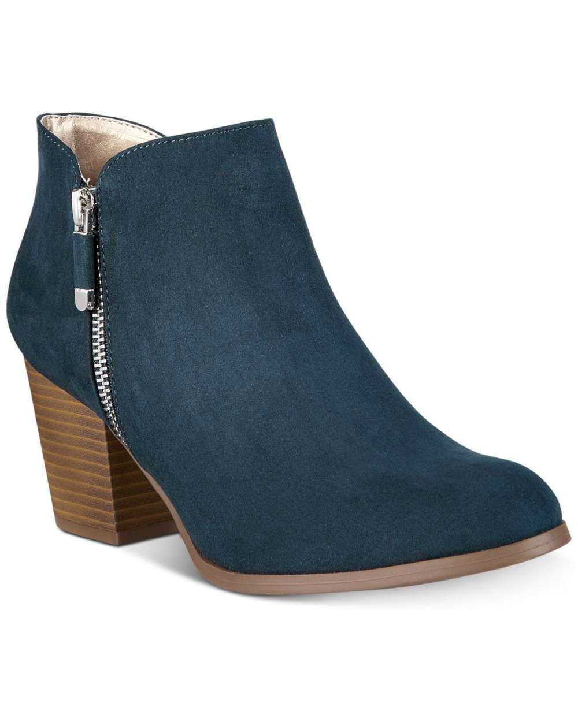 Style & Co. Frauen Masrinaa Pumps rund Leder Fashion Stiefel Gruen Groesse 9.5 U