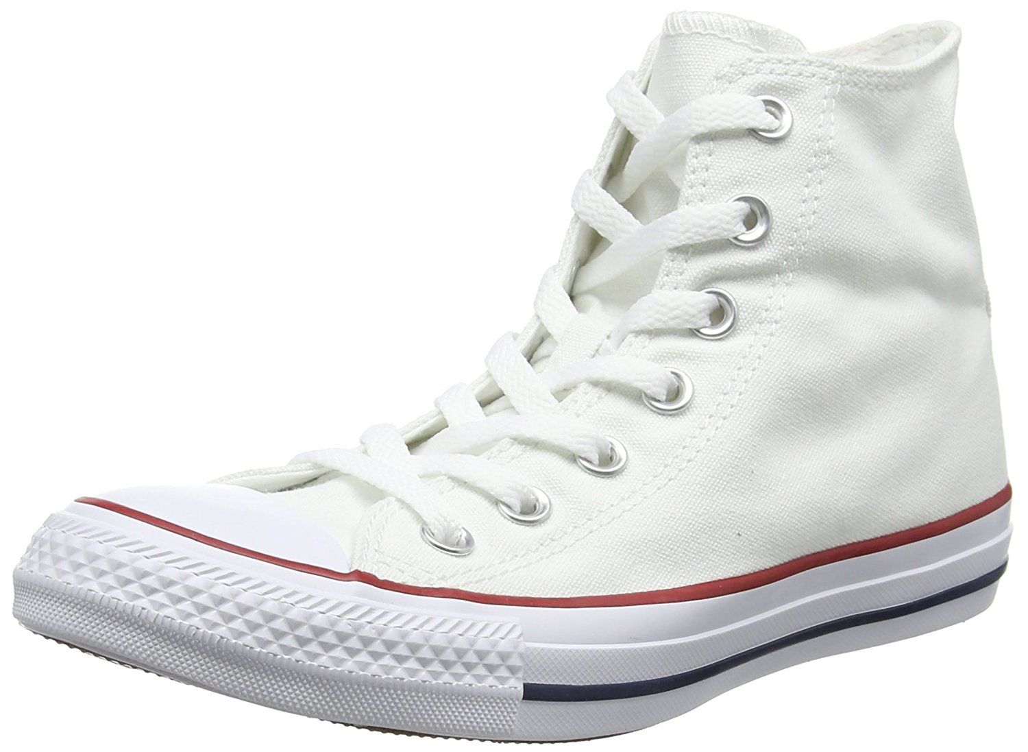 Converse Womens W7650 Fabric Hight Top Lace Up Basketball Shoes White Size 6.0