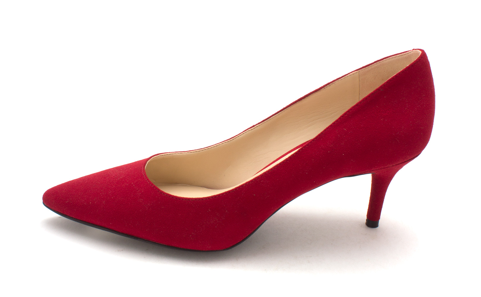 Nine West Womens Margot Suede Pointed Toe Classic Pumps Red Suede Size 5.0