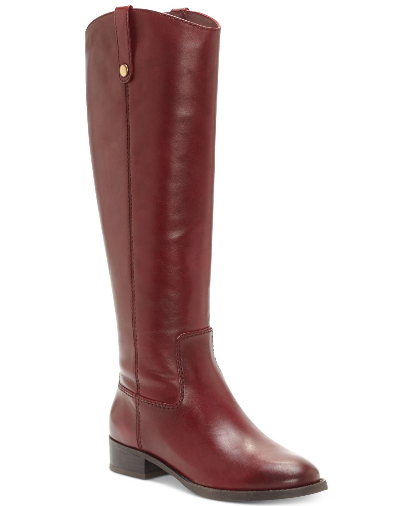 INC International Concepts Womens Fawne Leather Round Toe Knee Size 6.5 Cognac