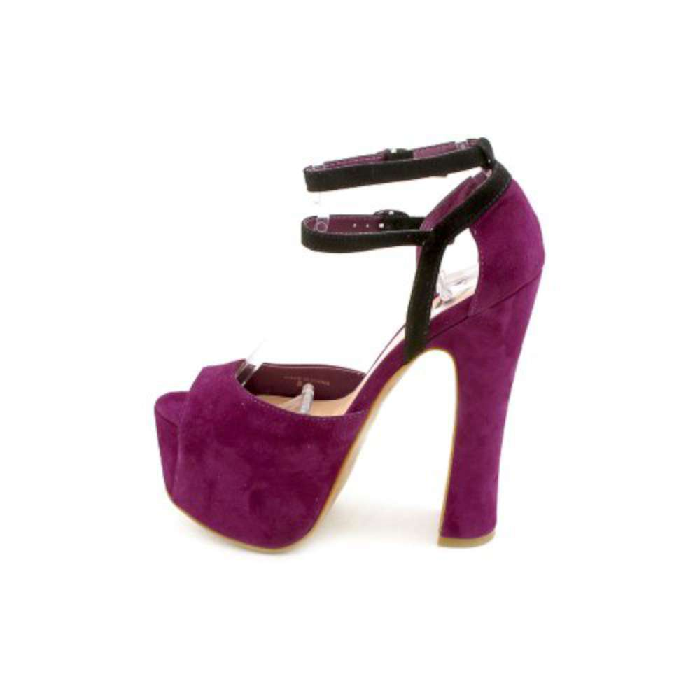 Dolce Vita Womens Viena Suede Peep Toe Special Occasion Purple Suede Size 60