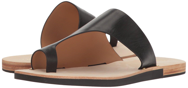 b79dcd07cfa0d3 Calvin Klein Womens Rinona Fabric Split Toe Casual T-Strap