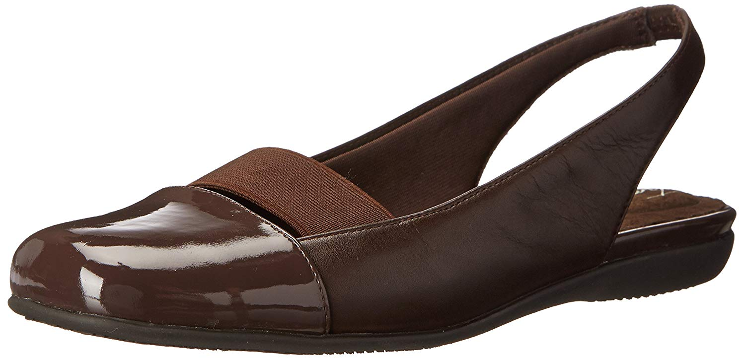 Trotters Toe Womens sarina Closed Toe Trotters Ankle Strap Slingback Flats 69bcd8