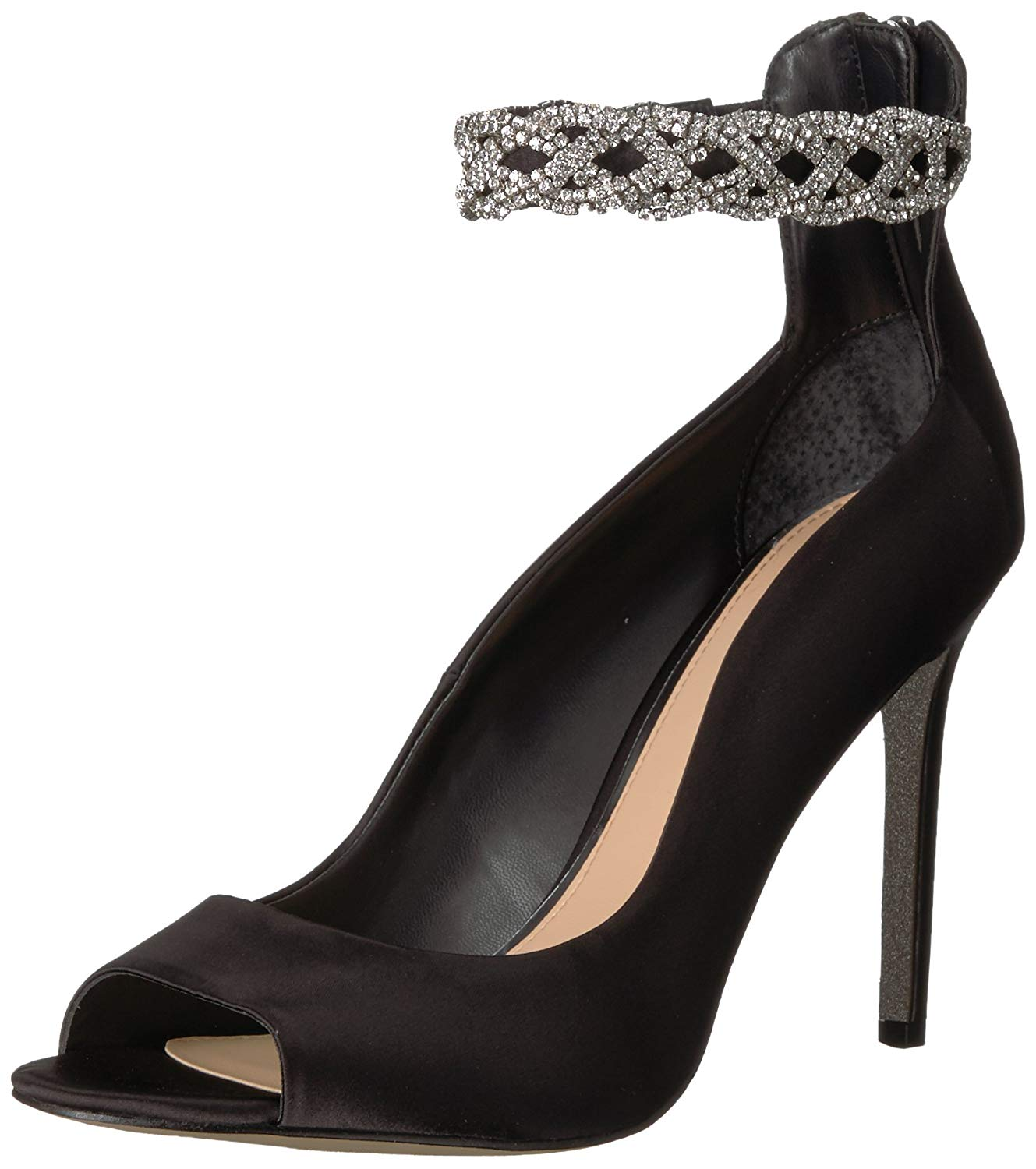 Badgley Mischka Jewel Women's Alanis Heeled Sandal, Black, Size 6.0