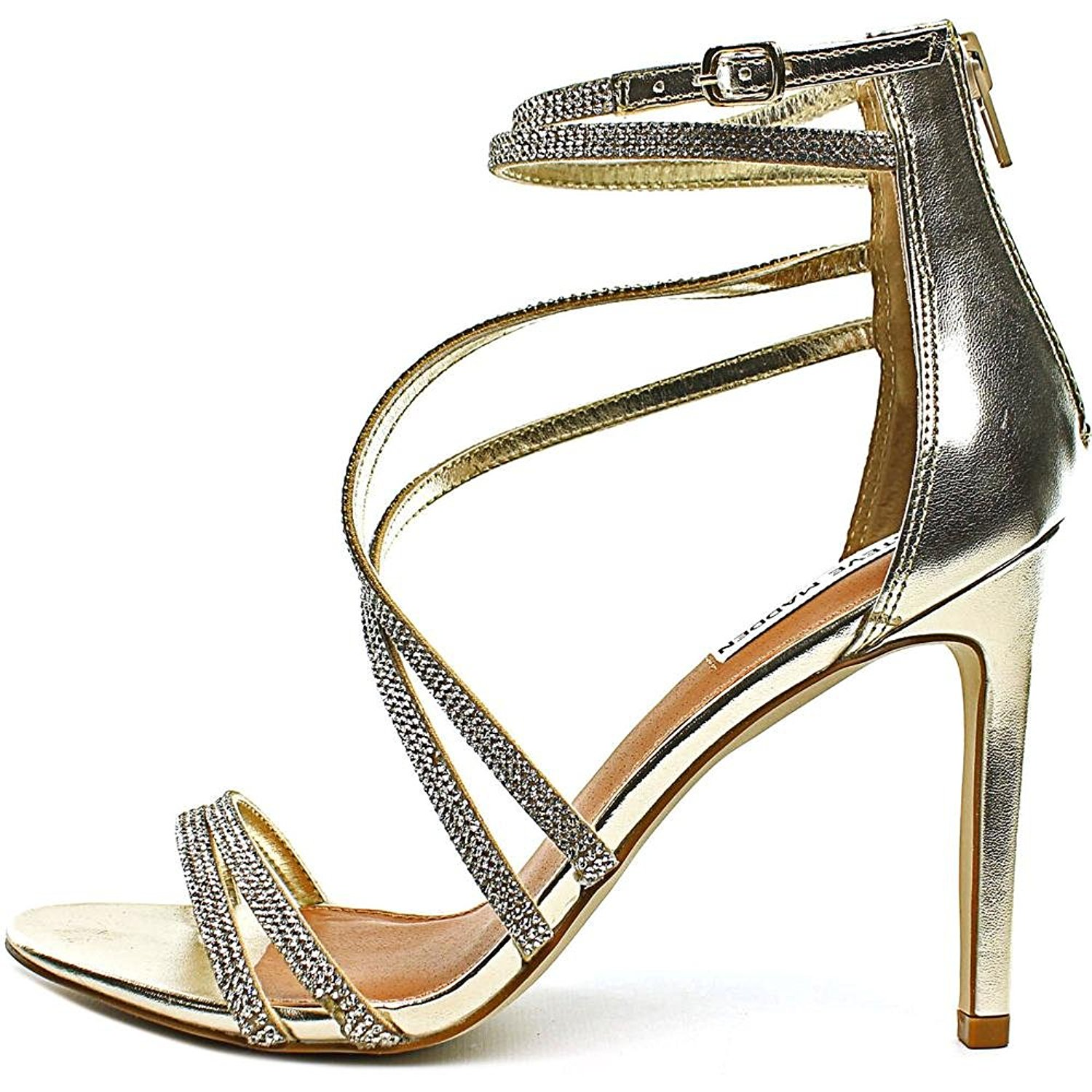 2963efeac0f Steve Madden Womens Open Toe Ankle Strap Classic Pumps