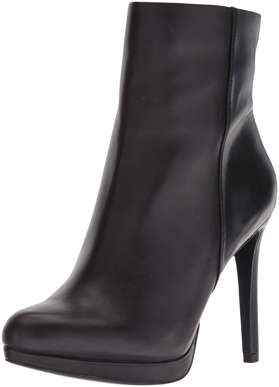 Nine West mujer Quanette Leather Almond Toe Mid-Calf Fashion, negro, Talla 11.0