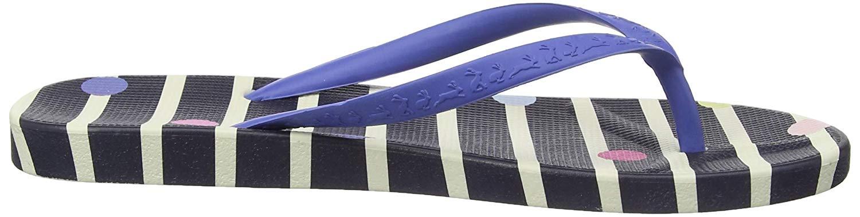Joules Womens Flip-Flop, Navy Stripe, Size 100  Ebay-2575