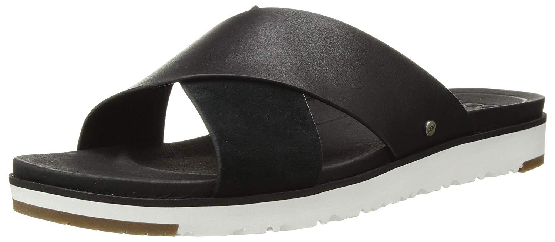 Details about Ugg Australia Womens Kari Leather Open Toe Casual Slide, Black, Size 10.0 uDE7
