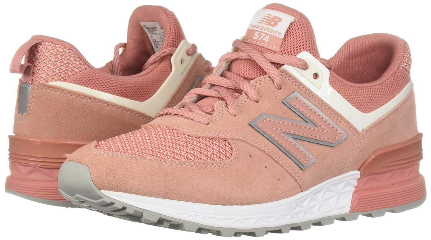 Para Hombre 574 Sport New Balance Tenis, Dusted Pea, tamaño