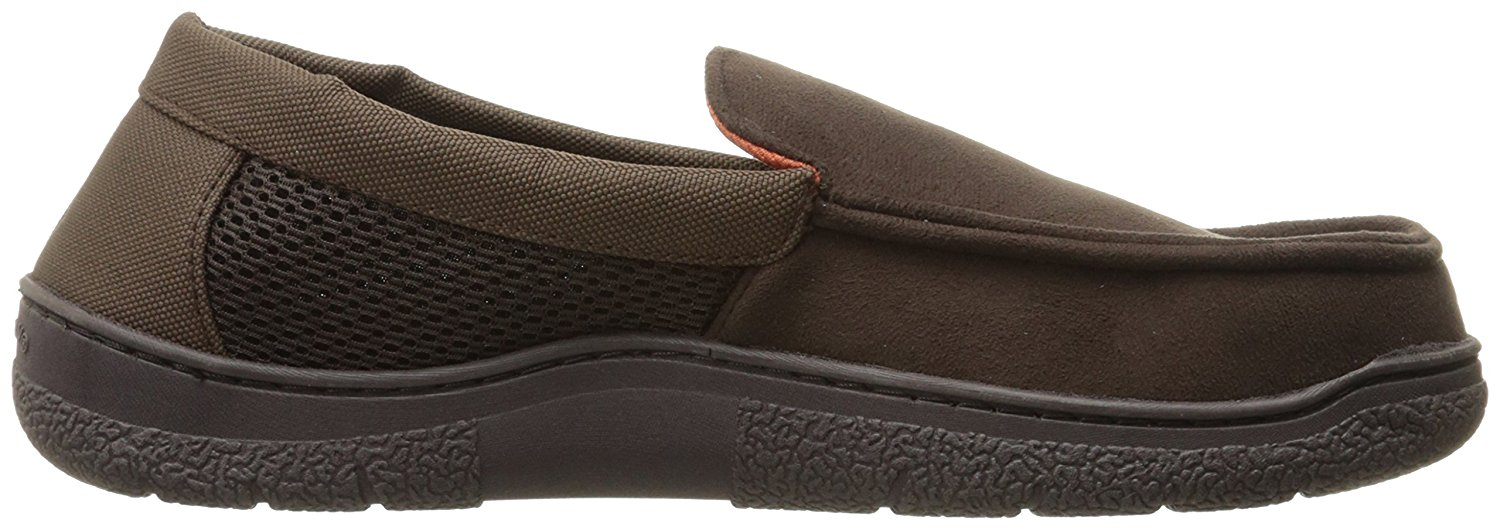 Dearfoams Mens Dearfoam Moccasin Fabric Closed Toe Moccasins Clothing, Shoes & Accessories Men's Shoes