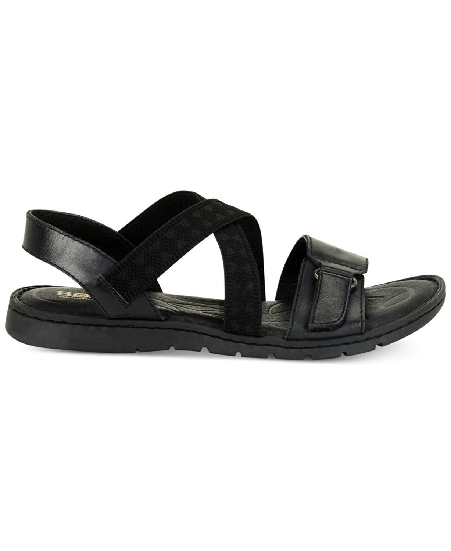 3aba69fa3f784 Born Womens Britton Leather Open Toe Casual Slide Sandals