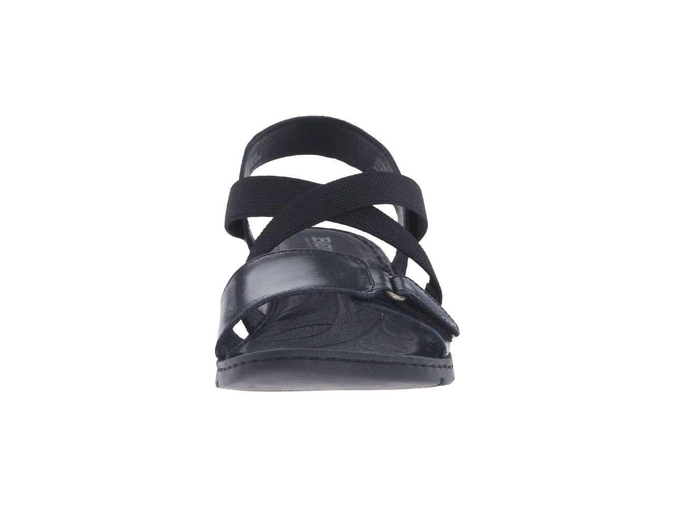 96e3501f6932 Born Womens Britton Leather Open Toe Casual Slide Sandals