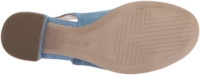 ECCO Frauen block sandel Offener Zeh leger Knoechel Riemen Riemen Riemen Sandalen blue Groesse c19d23